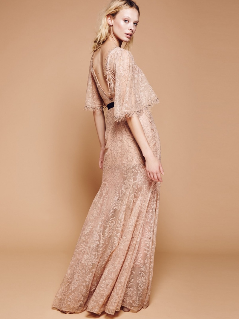 Alice McCall Looks Good, Feels Good Floral Lace Maxi Dress