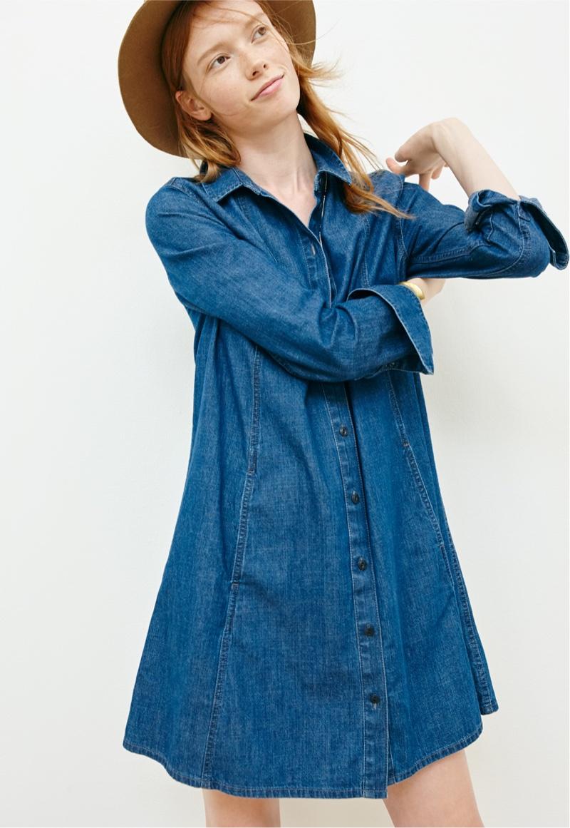 Madewell A-Line Denim Shirtdress