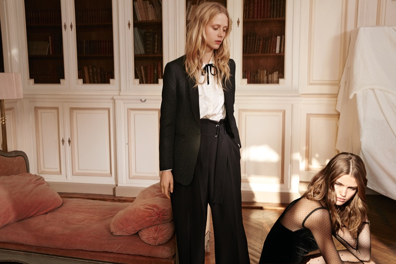 Spanish fashion brand Mango features party ready looks for December 2016 campaign