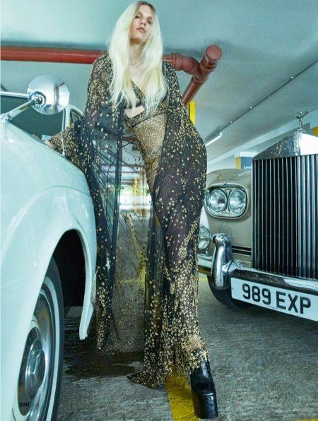 Marique Schimmel Channels Disco Fashion for ELLE UK