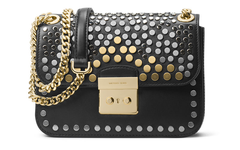 MICHAEL Michael Kors Sloan Editor Medium Studded Leather Shoulder Bag