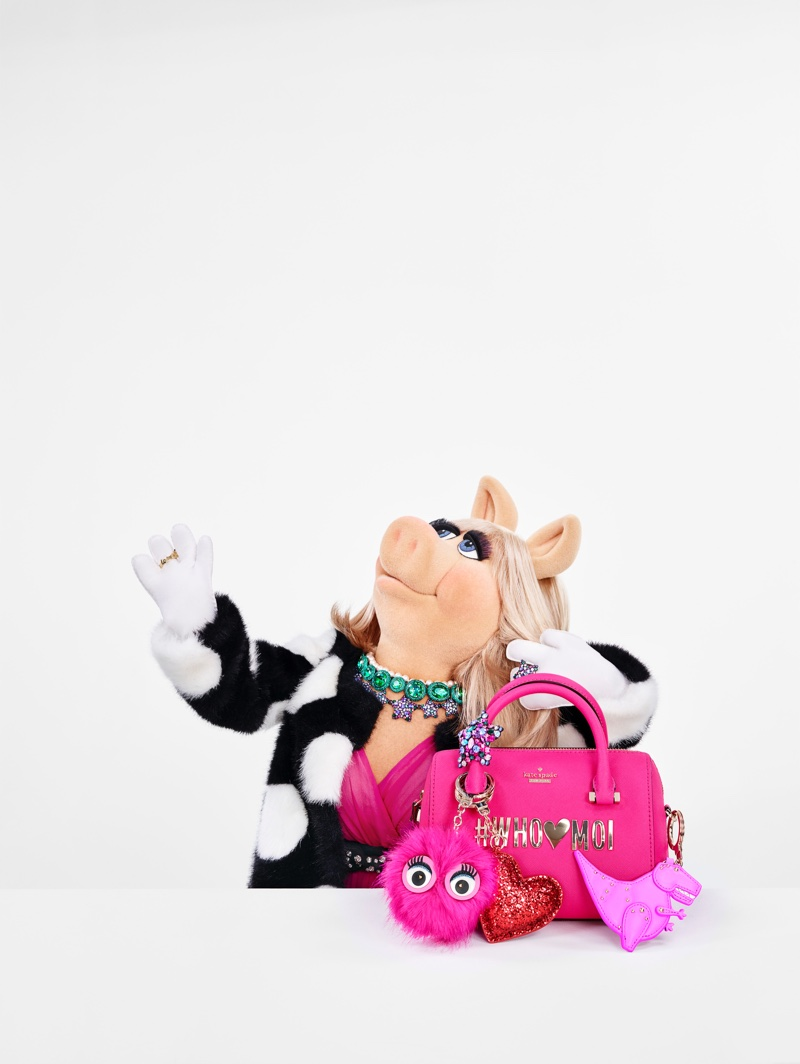 Miss Piggy stars in Kate Spade's Holiday 2016 campaign