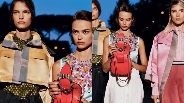 994ec97ff64 Miu Miu Models Take a Stroll Though Rome for Resort 2017 Campaign