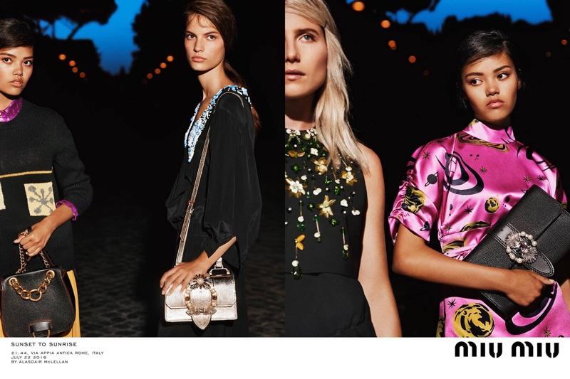 Alasdair McLelllan photographs Miu Miu's resort 2017 campaign