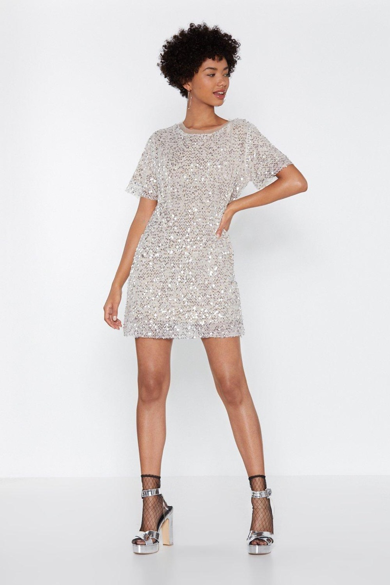 Nasty Gal Confessions On a Dance Floor Sequin Dress $40