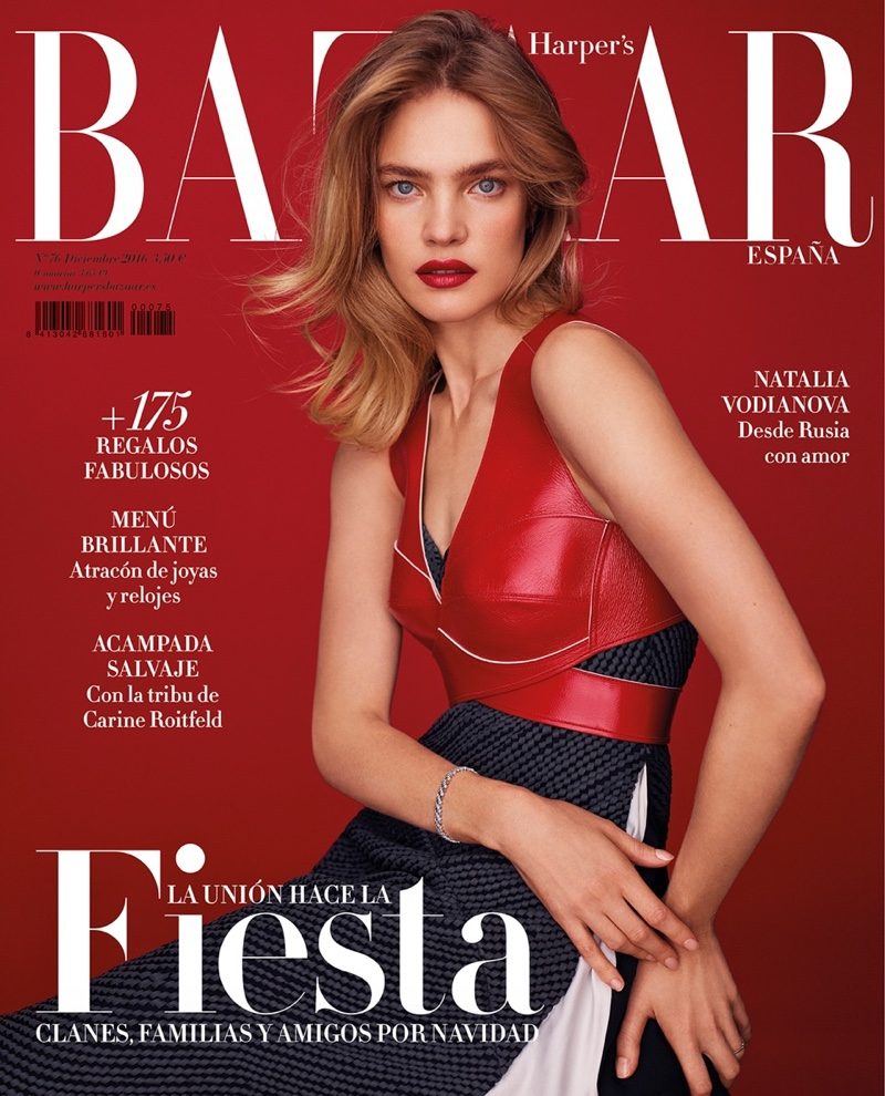 Natalia Vodianova on Harper's Bazaar Spain December 2016 Cover