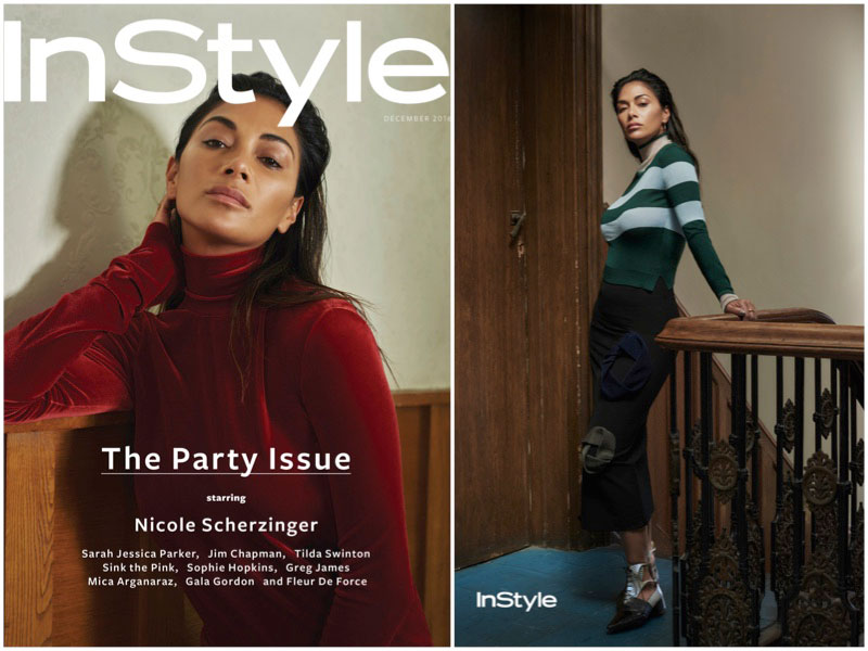 Nicole Scherzinger Poses in Winter Fashions for InStyle UK
