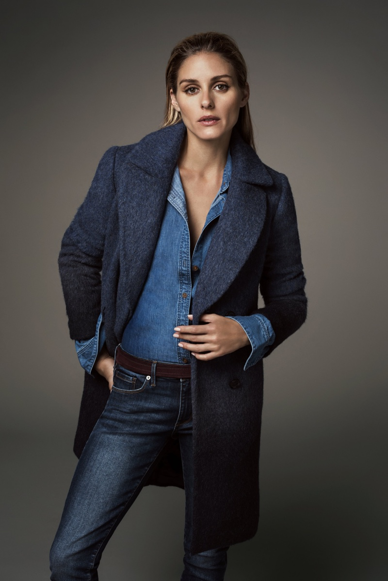 Olivia Palermo Poses in Banana Republic's Winter Looks