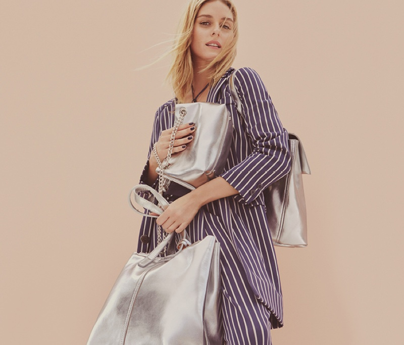 MAX&Co. features striped separates and metallic bags in spring 2017 preview