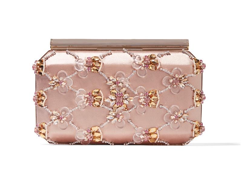 Oscar de la Renta Saya Embellished Satin Clutch Bag $2,100