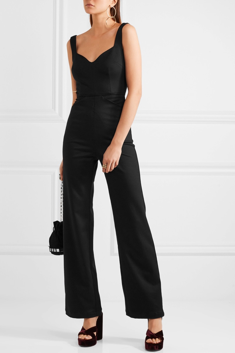 Reformation Cutout Twill Jumpsuit