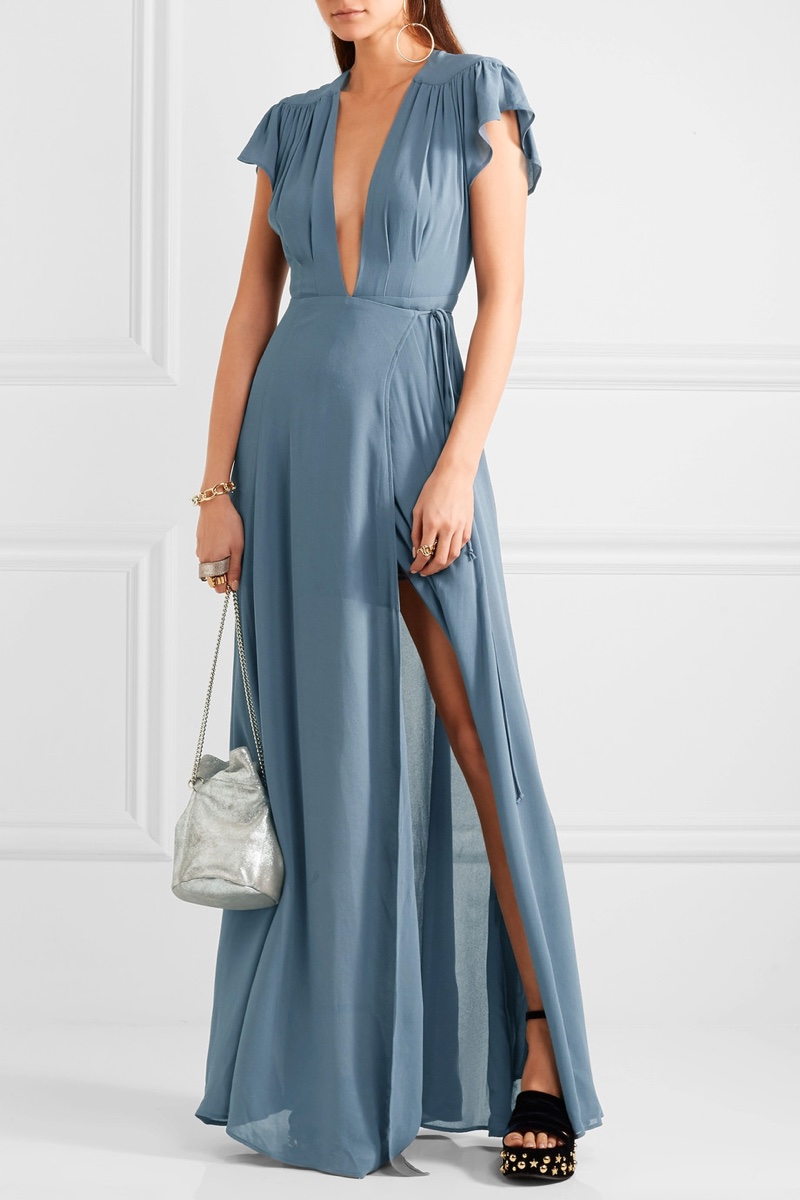 Reformation Georgette Wrap Maxi Dress