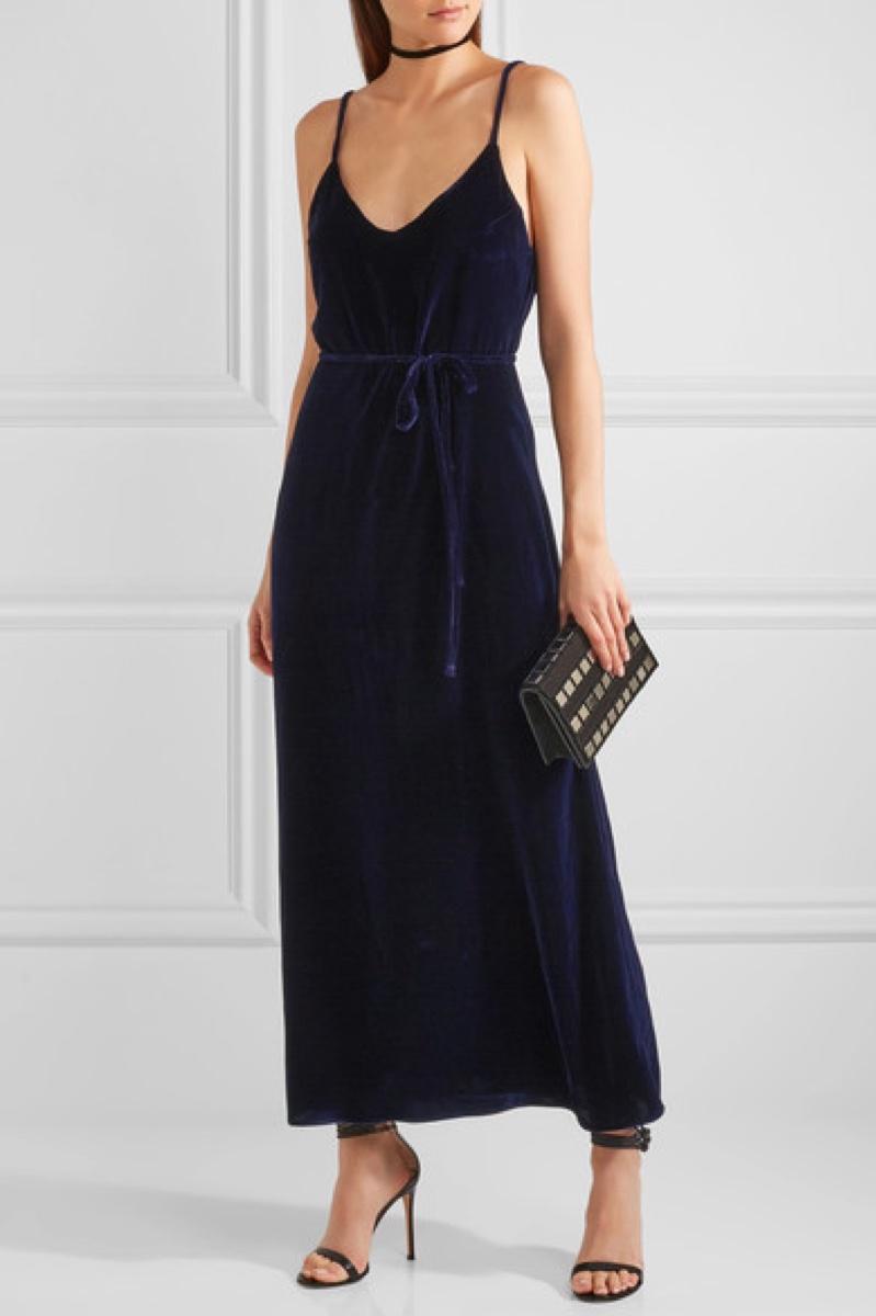 Reformation Velvet Maxi Dress