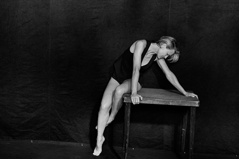 Robin Wright poses in black and white for the 2017 Pirelli calendar