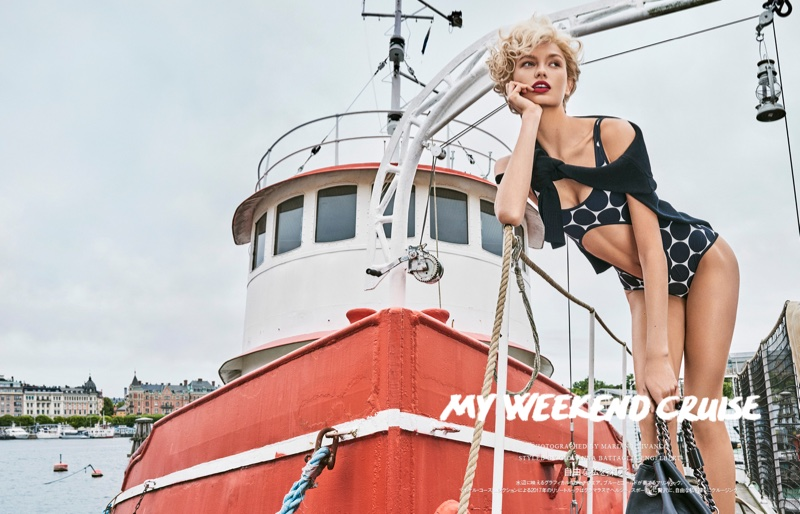 Romee Strijd Gets Cruising in Michael Kors for Vogue Japan