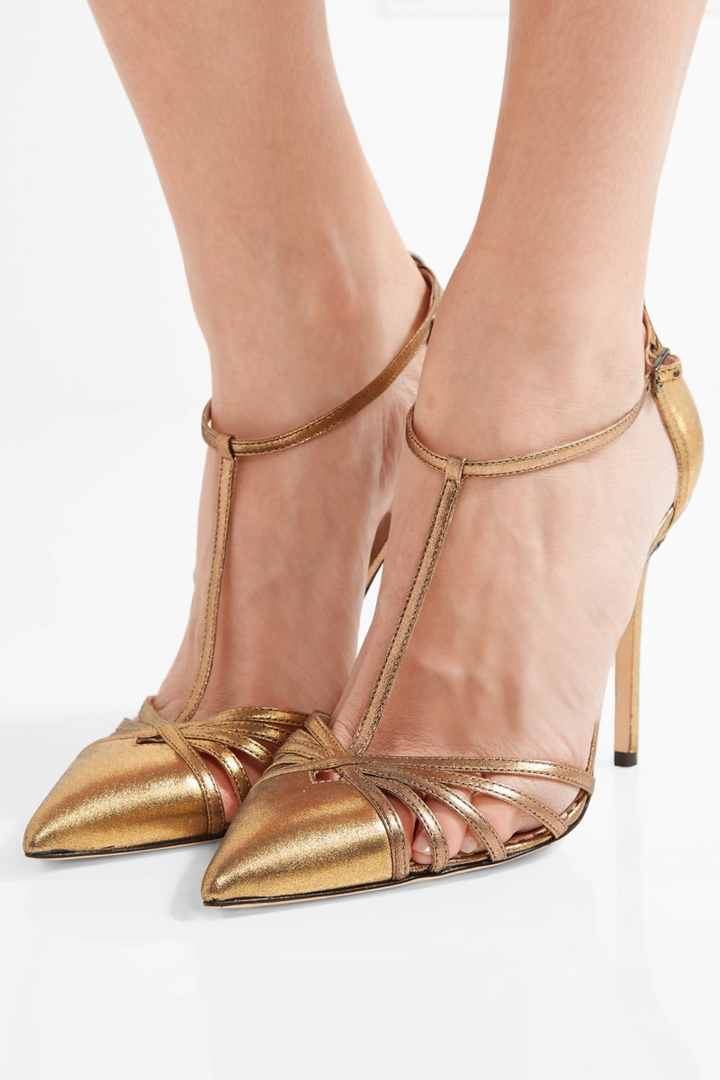 SJP by Sarah Jessica Parker Carrie Metallic Leather Pumps