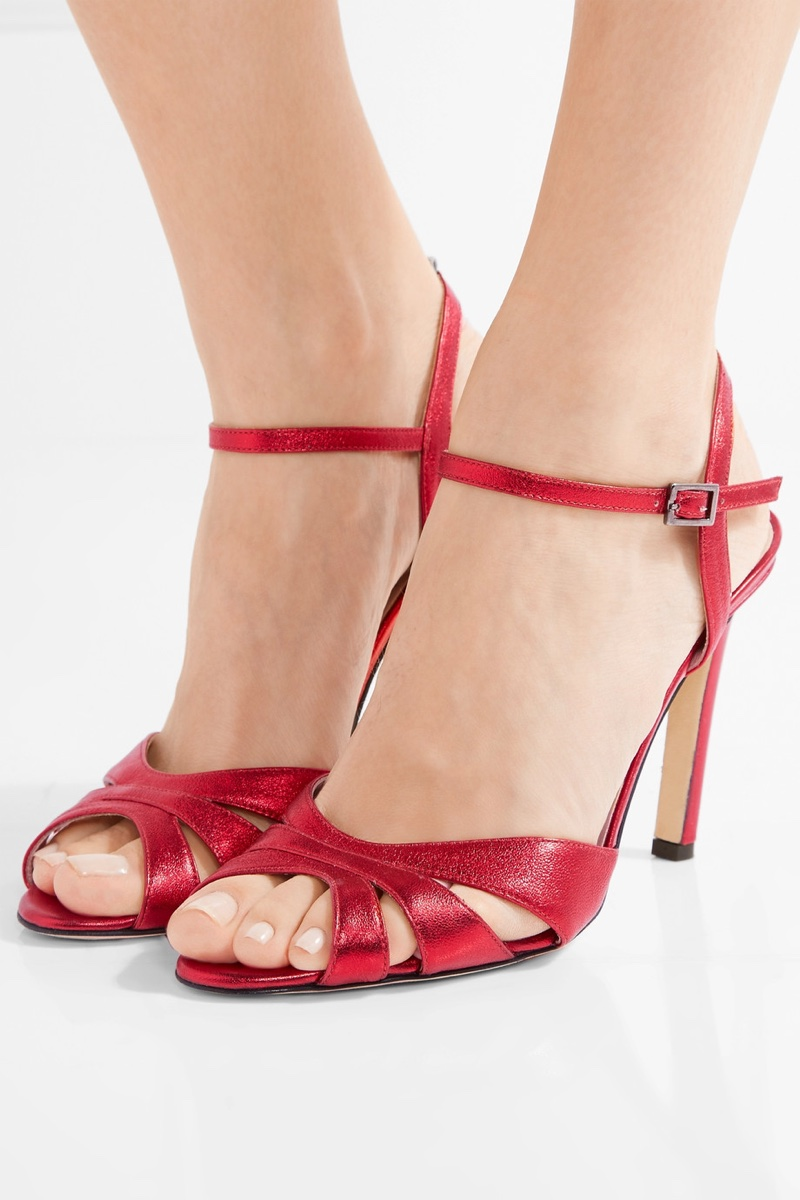 SJP by Sarah Jessica Parker Carrie Westminster Metallic Leather Sandals