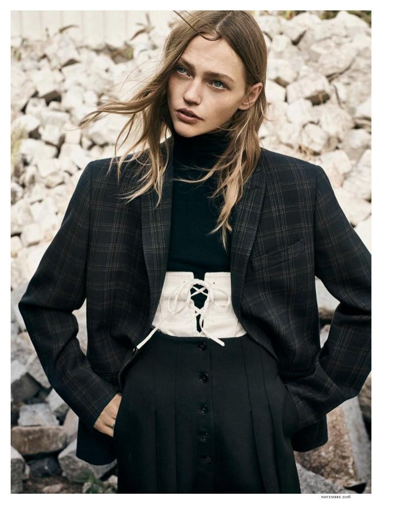 Sasha pivovarova looks sharp in menswear inspired styles - Is maison masculine or feminine ...