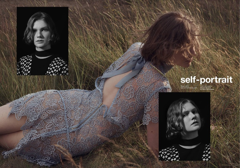 Self-Portrait features peep back mini dress in resort 2017 campaign