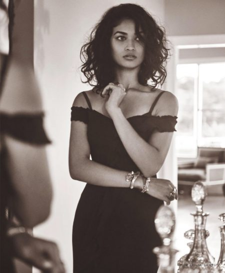 Shanina Shaik Poses in Sultry Looks for InStyle Australia
