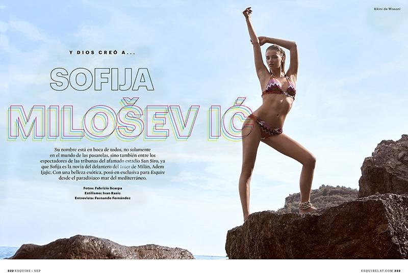 Sofia Milosovic stars in Esquire Mexico's December issue