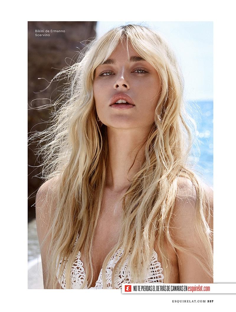 Getting her closeup, Sofia Milosovic wears Ermanno Scervino bikini top