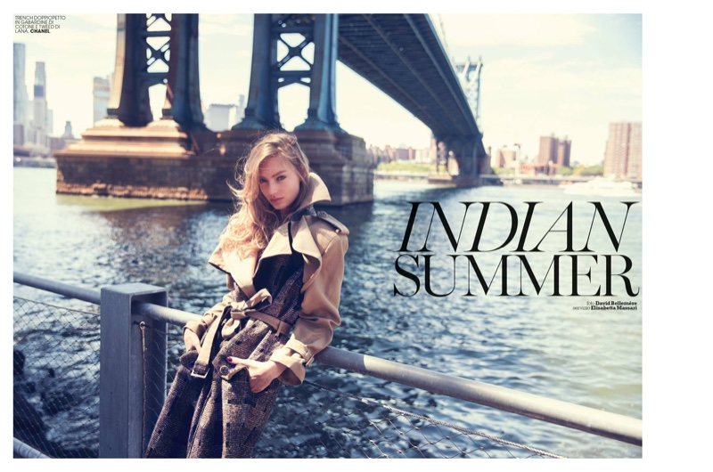 Susanne Knipper stars in Marie Claire Itay's October issue