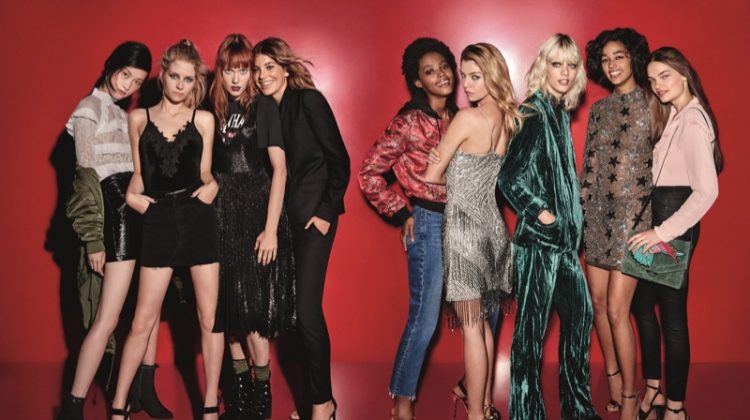 Stella Maxwell, Lottie Moss Are Ready for Party Season in Topshop's Holiday Campaign