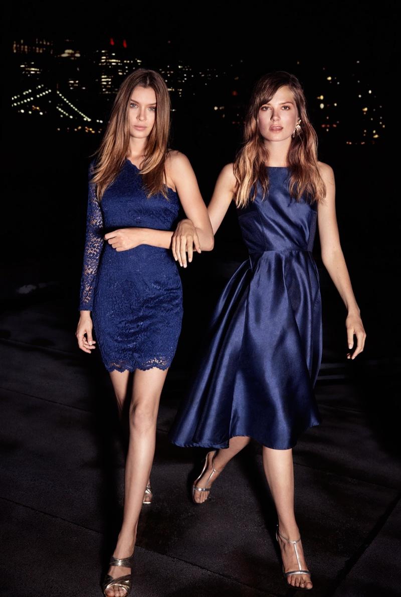 Josephine Skriver & Caroline Brasch Nielsen Model Vero Moda's Party Perfect Dresses
