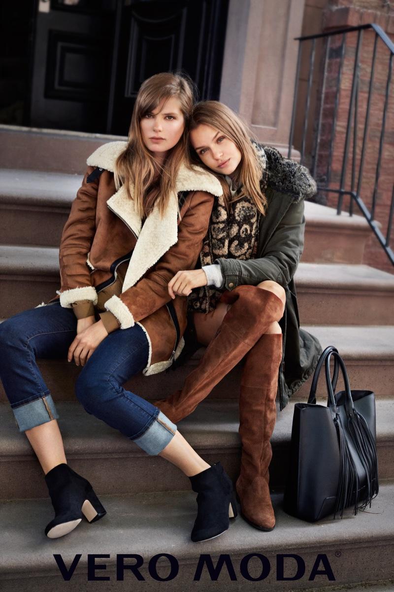 Josephine Skriver & Caroline Brasch Nielsen Bundle Up for Vero Moda's Latest Ads