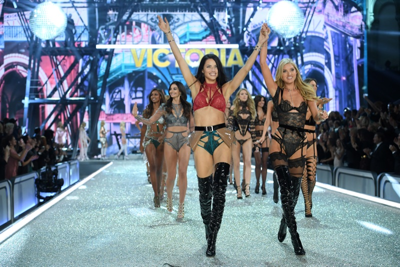 Adriana Lima and Elsa Hosk at the 2016 Victoria's Secret Fashion Show Finale
