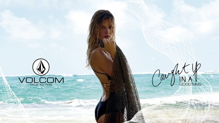Georgia May Jagger Poses in Volcom's Eco-Friendly Swimwear