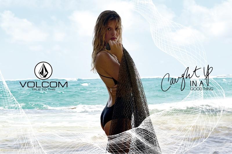 Georgia May Jagger Poses in Volcom's Eco-Friendly Swimwear