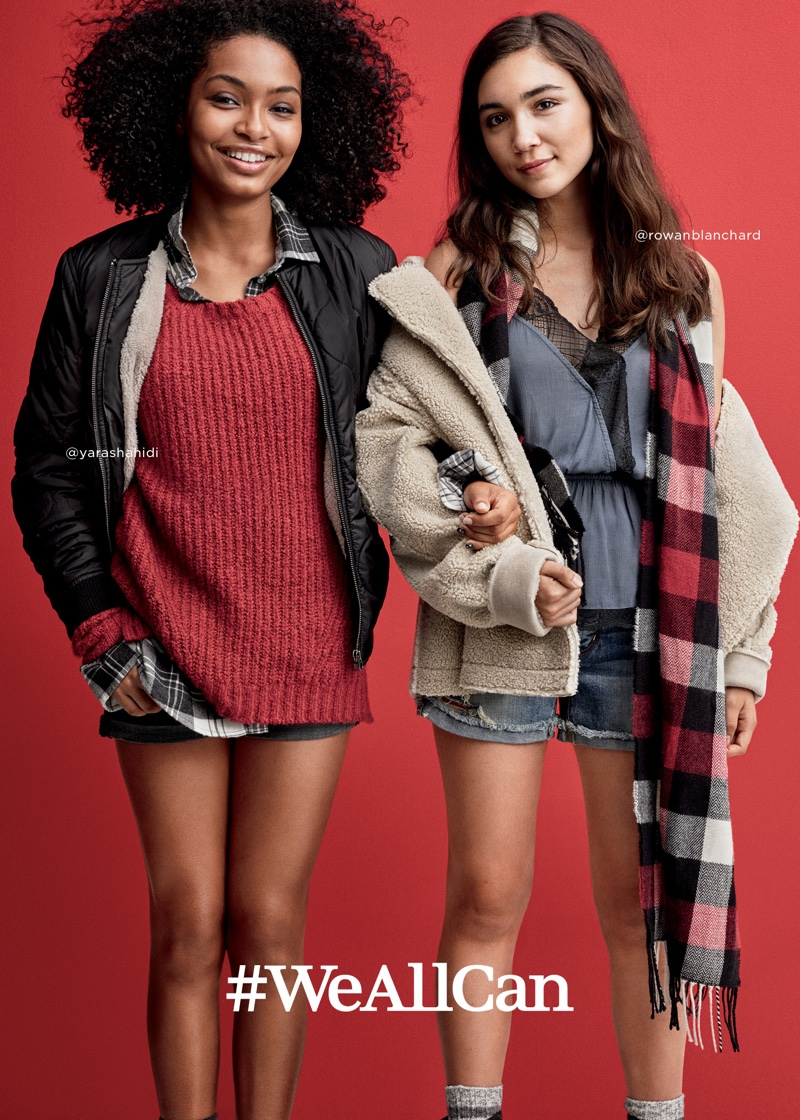 Actresses Yara Shahidi and Rowan Blanchard star in American Eagle Outfitters' Holiday 2016 campaign