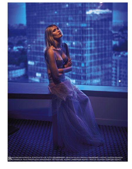 Yulia Terentieva Stuns in Lingerie Looks for Grazia Italy