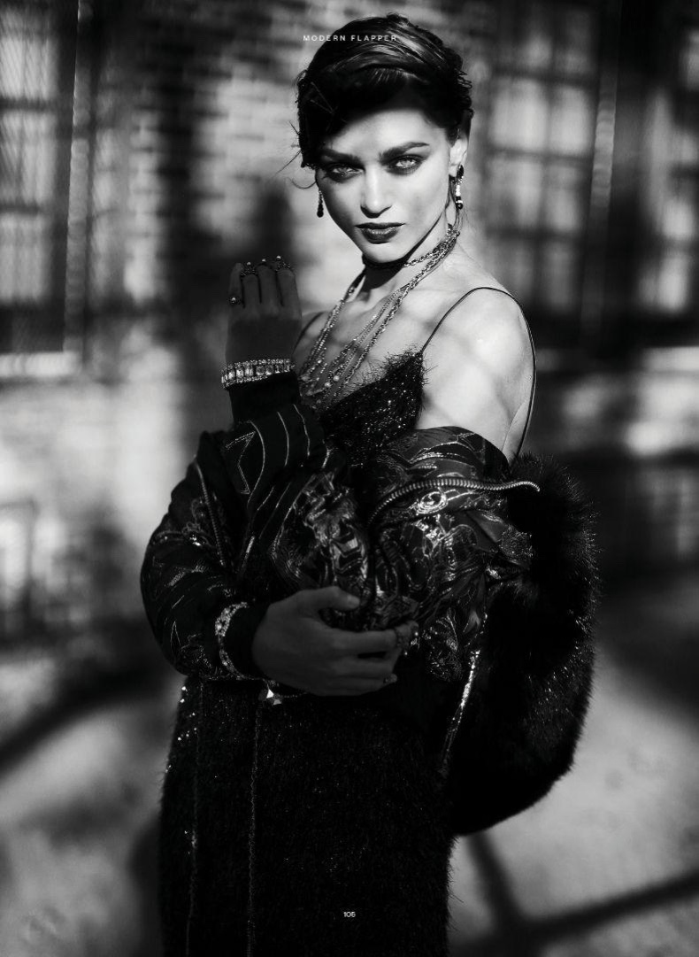 Zhenya Katava stars in Iris Covet Book's November-December issue