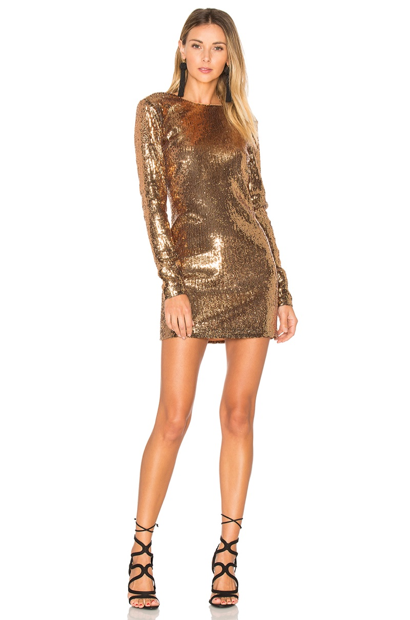 Ale Alessandra x REVOLVE Julinha Gold Sequin Dress $198