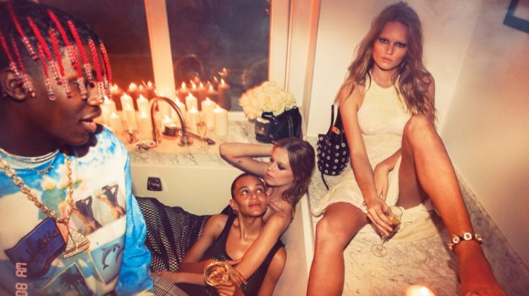 Alexander Wang throws a party in a bath tub with spring 2017 campaign