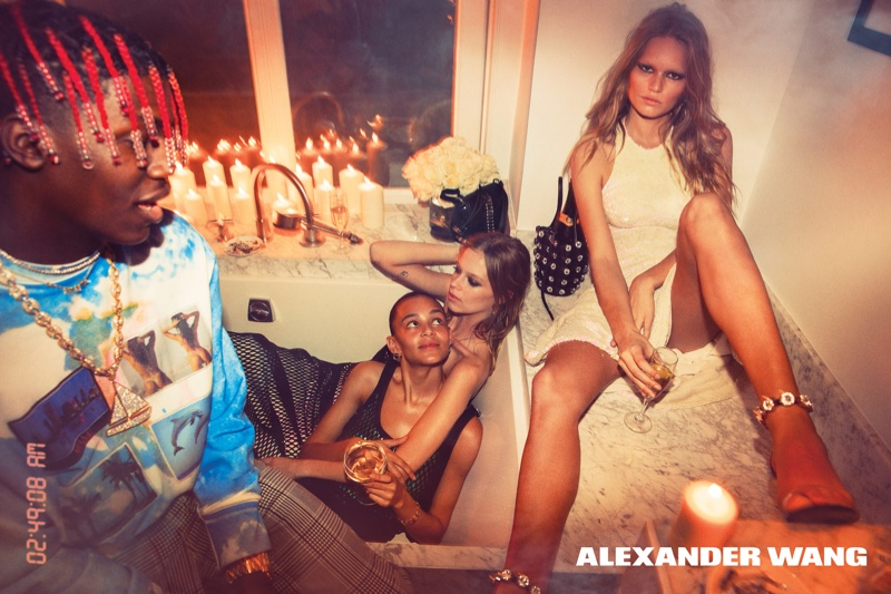 See How the Wang Squad Parties in Alexander Wang's Spring Ads