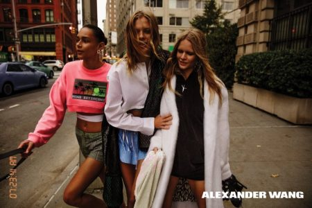 Alexander Wang's Spring 2017 Campaign Hits the Streets