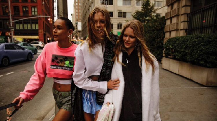 Binx Walton, Lexi Boling and Anna Ewers stars in Alexander Wang's spring 2017 campaign