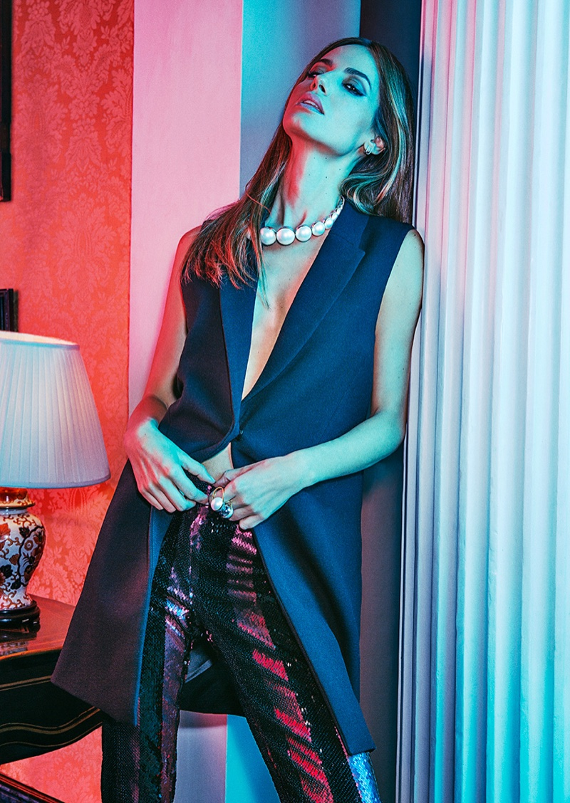 Photographed by Richard Ramos, model Ariadne Artiles poses in glamorous looks