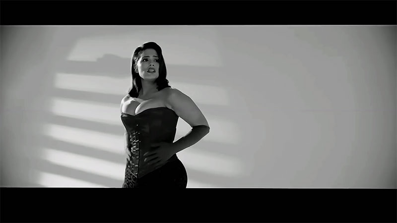 Ashley Graham channels Jessica Rabbit for the black and white video