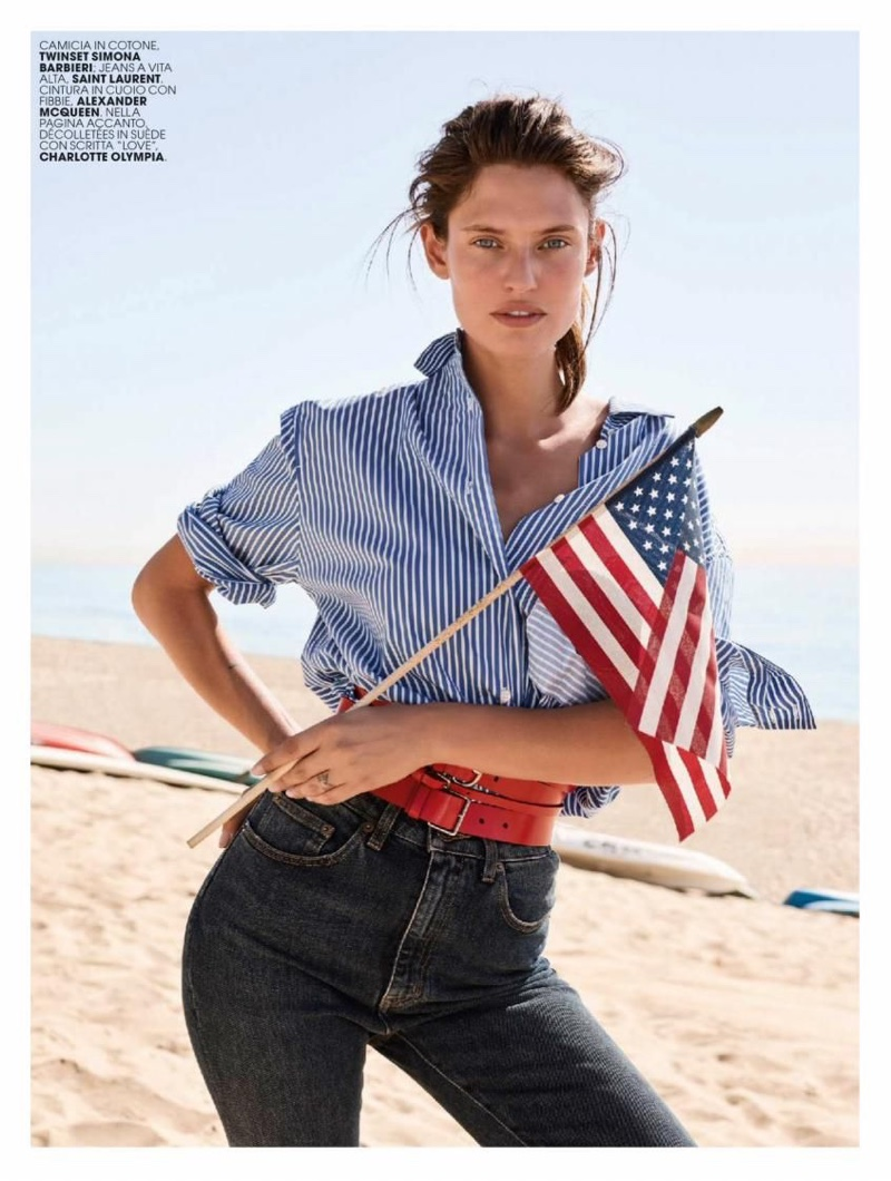 Bianca Balti Models Casual Glam Looks for Marie Claire Italy