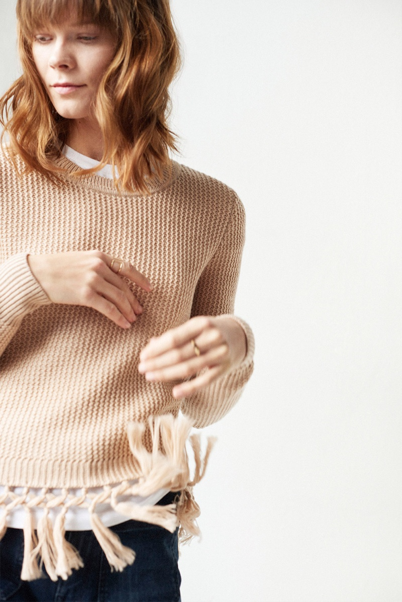 Club Monaco Beberly Sweater, Club Monaco Leary Crew Tee and MOTHER Roller Pocket Jean