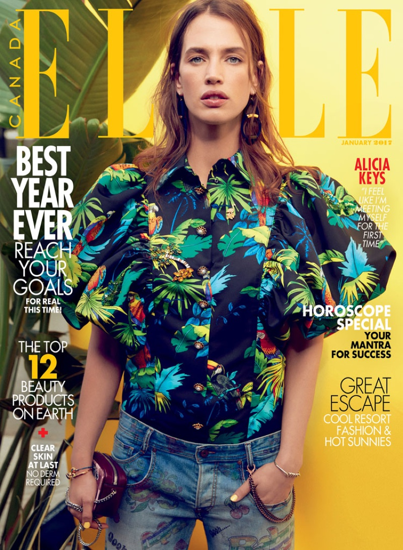 Crista Cober on ELLE Canada January 2017 Cover