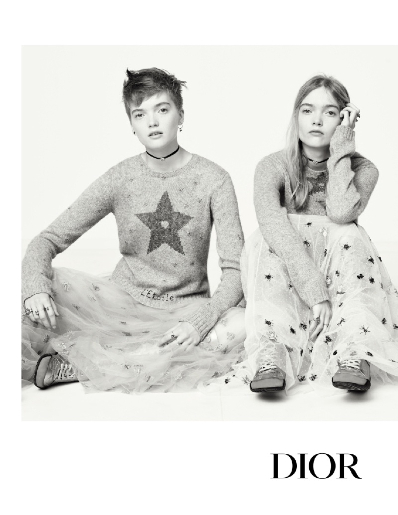 Twin sisters Ruth and May Bell star in Dior's spring 2017 campaign