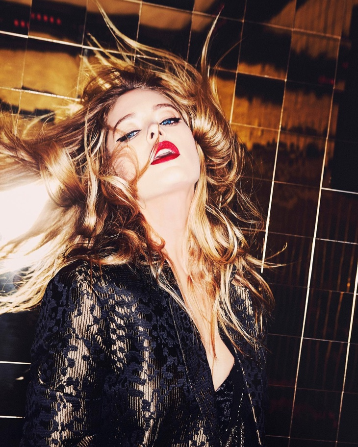 Doutzen Kroes flips her hair in this glamorous shot
