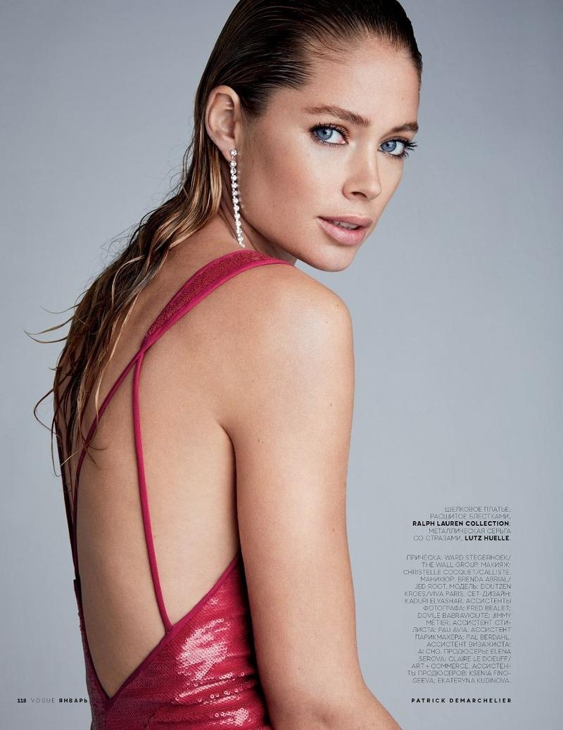 Model Doutzen Kroes shines in Ralph Lauren Collection sequin dress