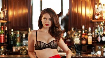Emily DiDonato Looks Red-Hot in Yamamay's Christmas LCollection